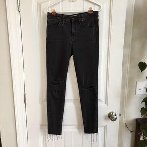 Madewell Tall Black Skinny Jeans